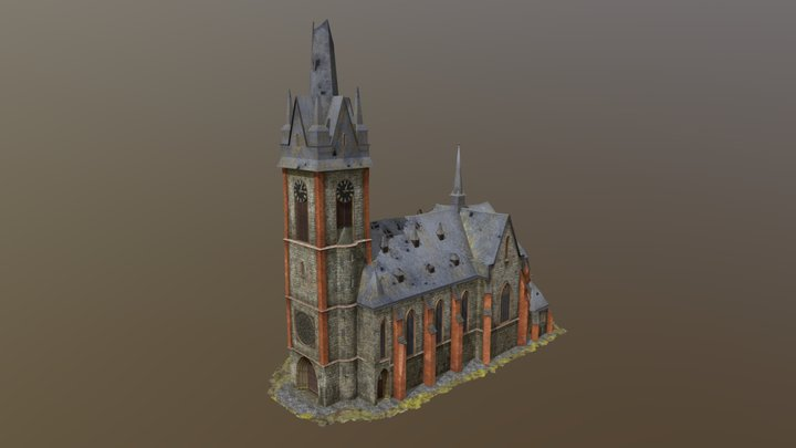 Town Hall on 2 respawn WOT 3D Model