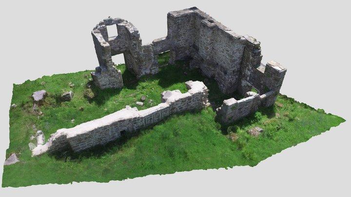 Longstone Manor remains in Burrator Reservoir 3D Model