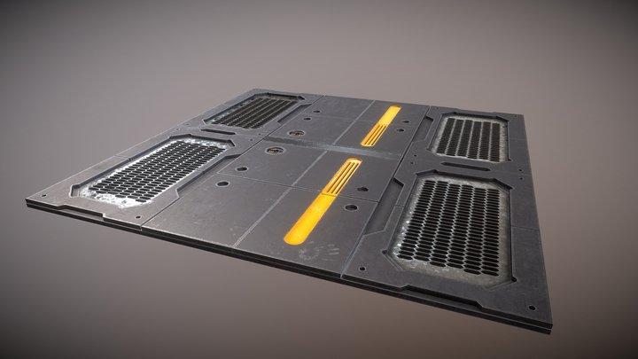 Sci-Fi Floor Panel 3D Model