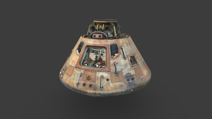 Apollo 11 Command Module (Combined) 3D Model