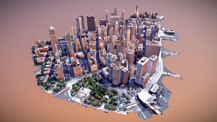 New York City. Manhattan 3D Model