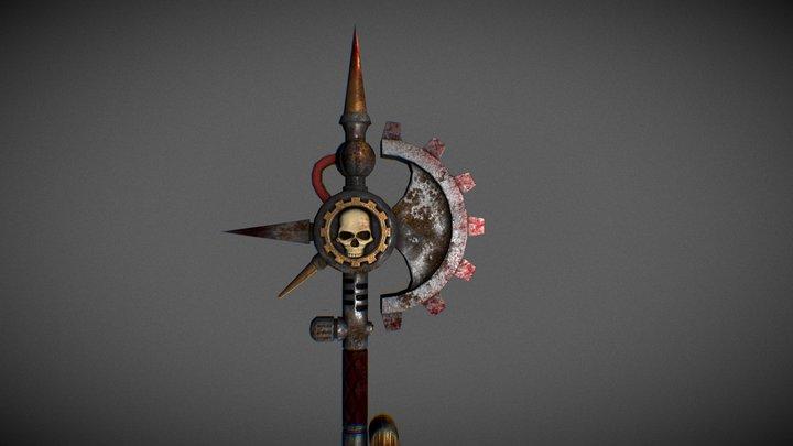 Cult Mechanicus Power Axe 3D Model