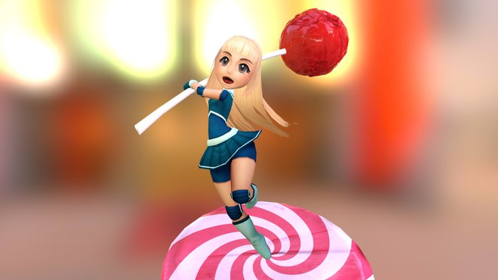 Candy Warrior 3D Model