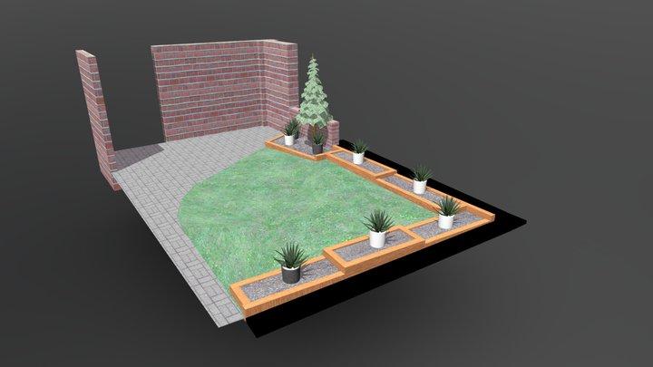 Proposed front garden design 3D Model