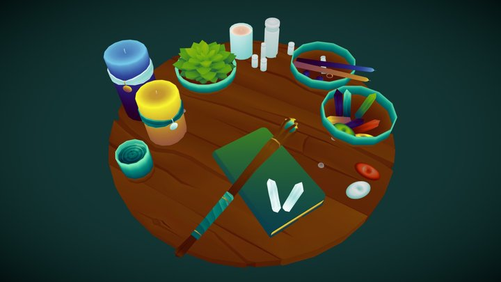 Witch's Altar 3D Model