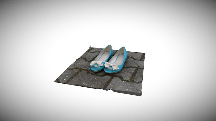 My blue shoes (RealityCapture) 3D Model