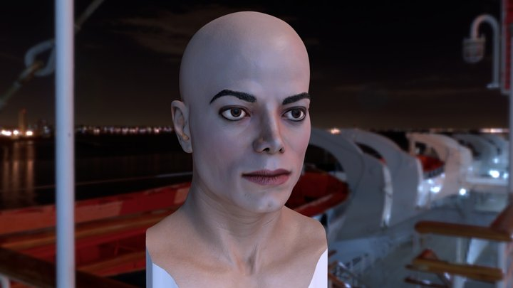 3d printable model Michael Jackson bust 3D Model