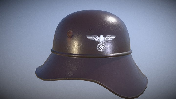 WW2 German Helmet 3D Model