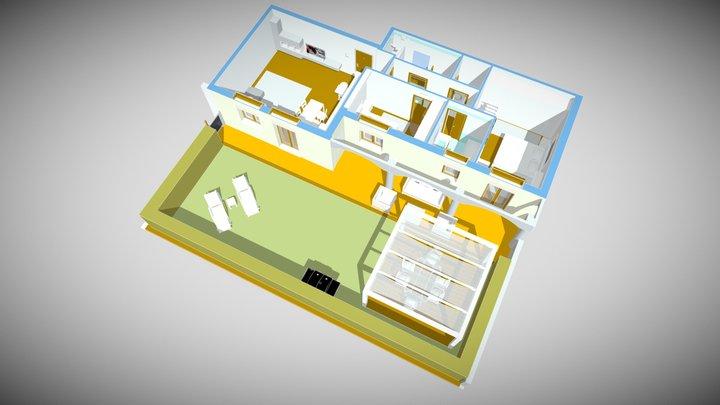 Appartamento Noventa 3D Model