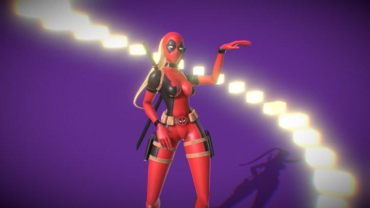 Lady Deadpool (SUPALONELY TikTok Dance) 3D Model