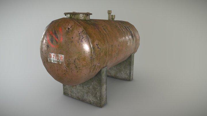 old oil tank 3D Model