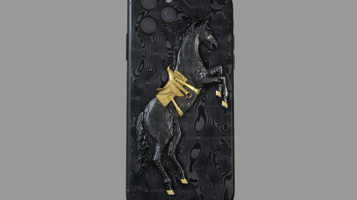 Hadoro iPhone Arabian Horse 3D Model