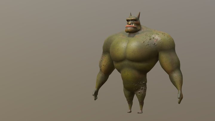 Bruzer (Naked) 3D Model