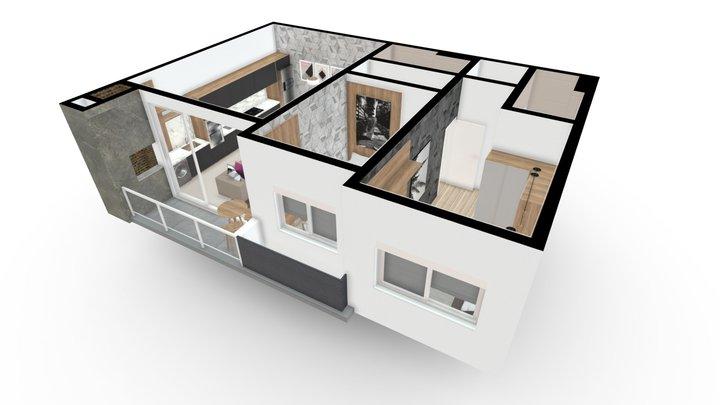 Atrium Residencial | Apto 02 3D Model