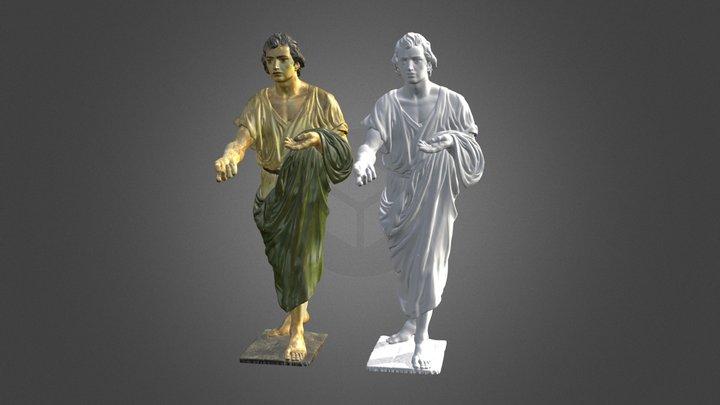 Imagen Religiosa Talla San Juan 3D Model