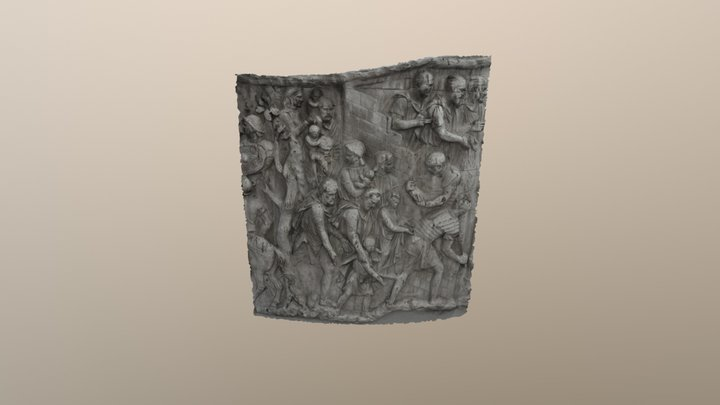 Dacians on Trajan's Column 3D Model