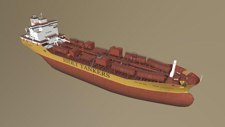 Tanker Ship: Stolt Capability 3D Model