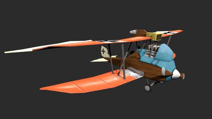 Bourgoignie David Plane Game Art 3D Model