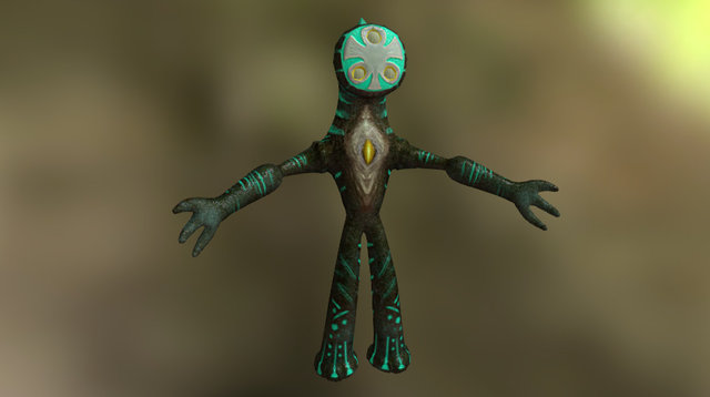 Female Gnome 3D Model