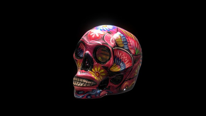 Dia de los Muertos - Skull - Katrina - Mexico 3D Model