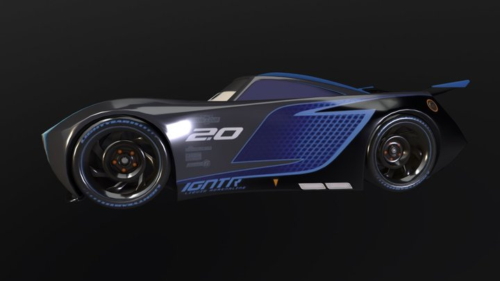 Cars 3: Jackson Storm 3D Model
