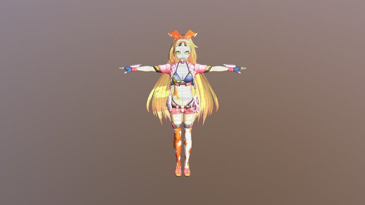 Unity-chan (rockstar) (.obj) (.blend) 3D Model