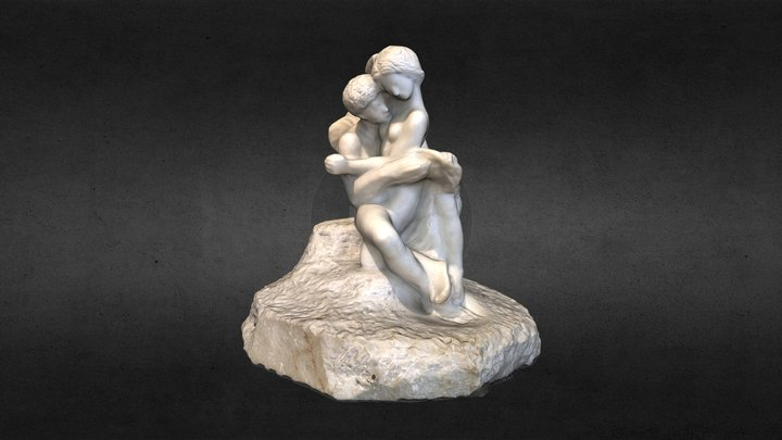 Cupid and Psyche, Auguste Rodin 3D Model