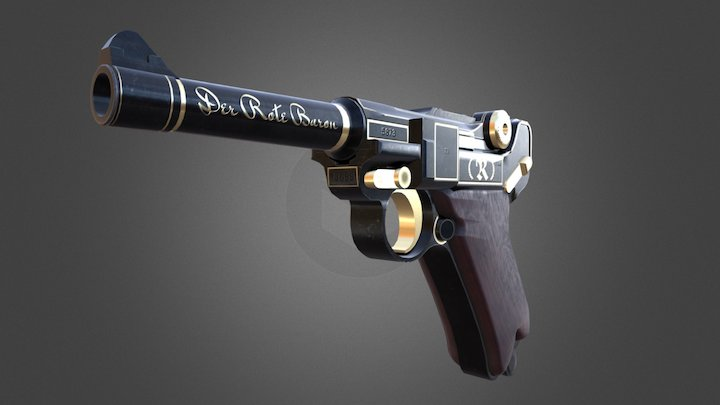 Red Baron's P08 3D Model