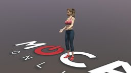 Daz3D Conversations Animation - Victoria 8 3D Model