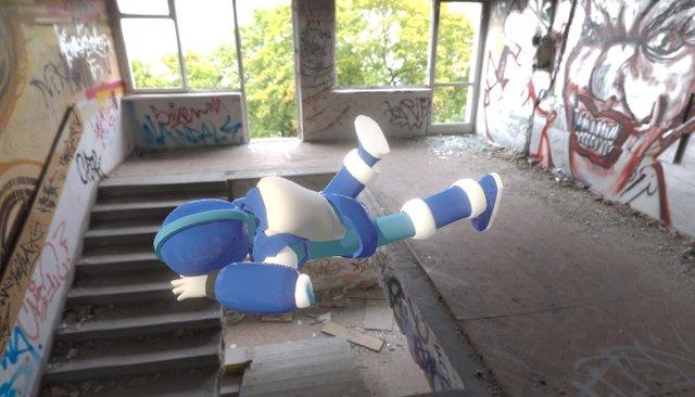 RT-X Defeat Animation 3D Model