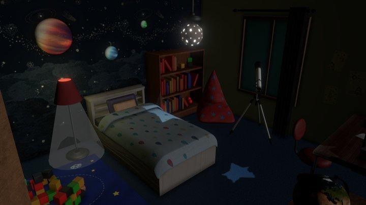 Space Room 3D Model