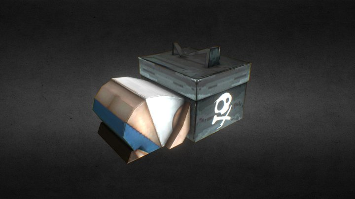Garena Free Fire Loot Box Kneel and Apologize 3D Model
