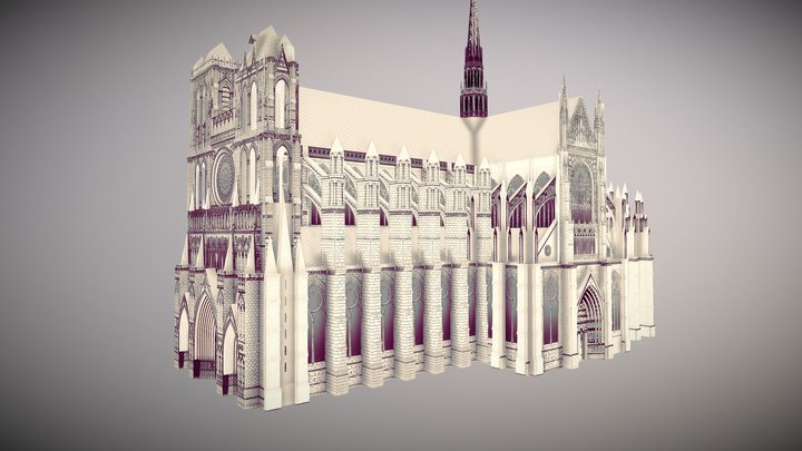 Amiens Cathedral 3D Model