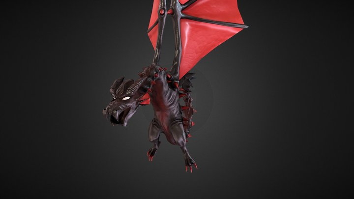 Wyvern Animated! 3D Model