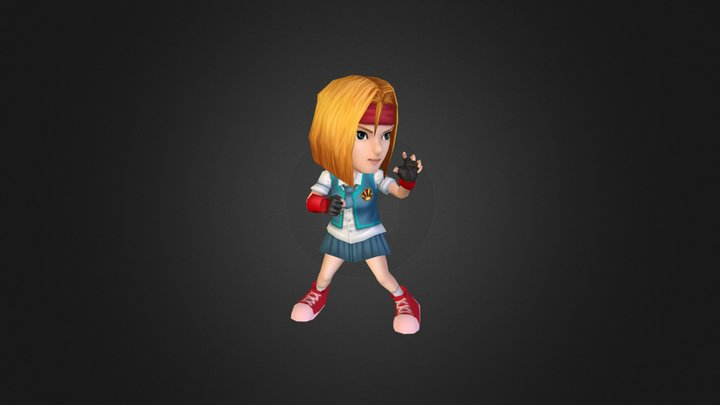 "Pepito ""Cute School Girl"" 3D Model"