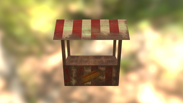 Horror Carnival - Food Stand 3D Model