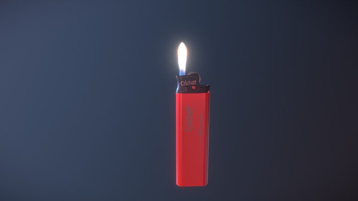 Lighter with parts 3D Model