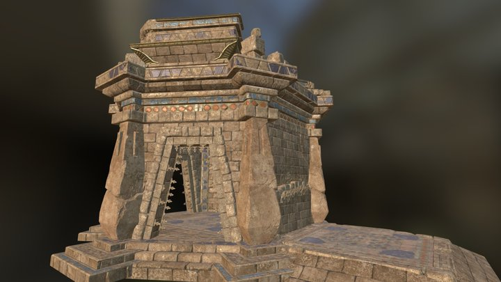Ruin Temple Cell 3D Model