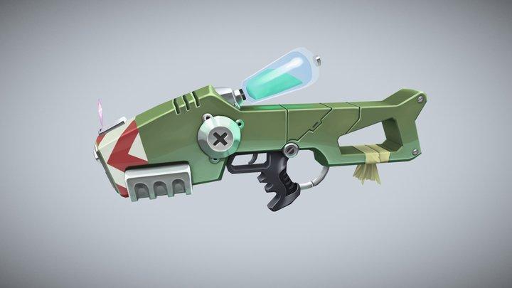 Handpainted SciFi Gun 3D Model
