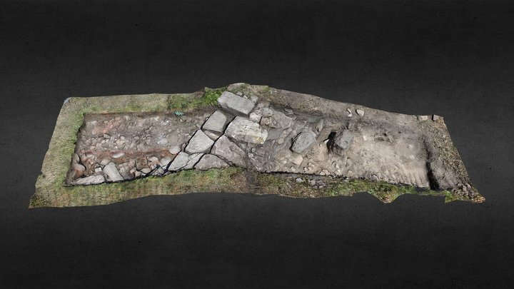 Exploring Castle Hill, Ardrossan - Trench O 3D Model