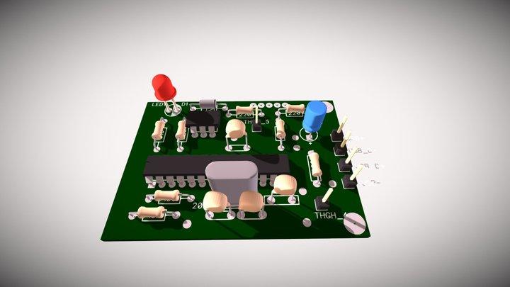 USB 2 MIDI Adapter PCB 3D Model