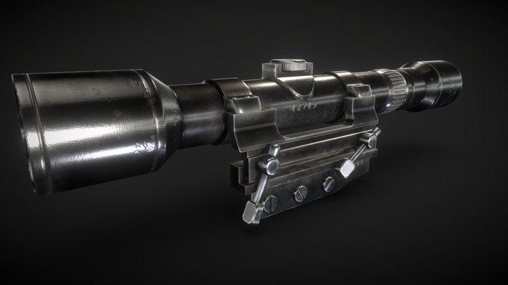 Karabiner 98 Sniper Scope 3D Model