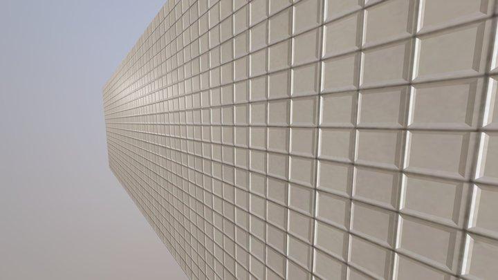 Tileable Subway Wall 3D Model