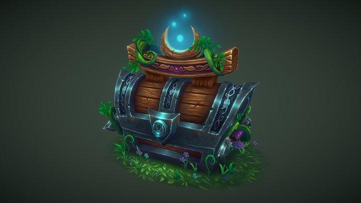 Night Elf Treasure Chest 3D Model