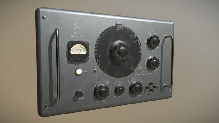 Vintage Signal Generator ZG-10 3D Model