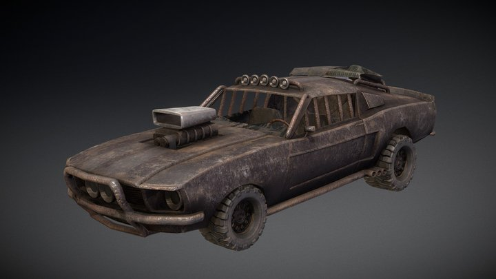 Mad Max Mustang Updated 3D Model
