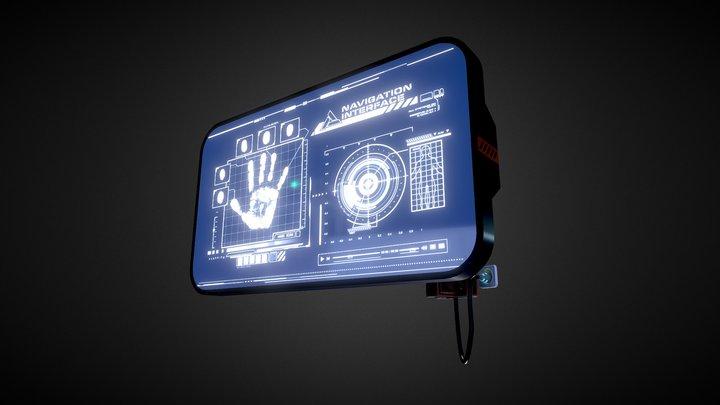 Sci fi Monitor 3D Model