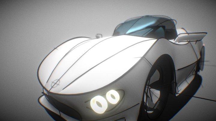 My First VR Car 3D Model