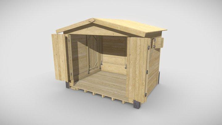 Christmas Market Chalet 3D Model