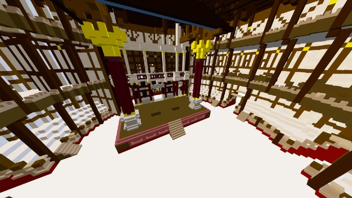 The Globe Theater - Via MineGage 3D Model